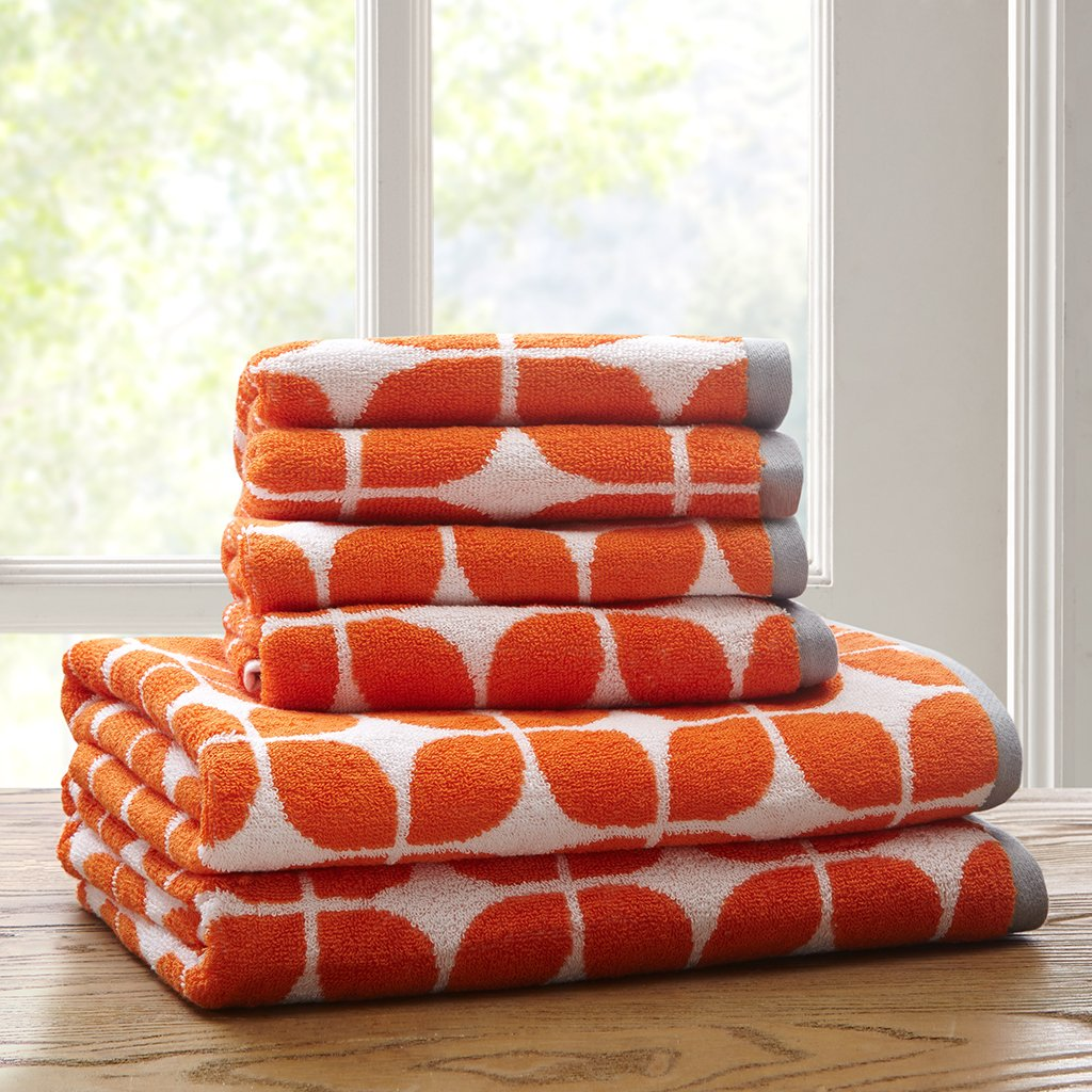 Lita 6 Piece Cotton Jacquard Towel Set