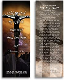 Bible Verse Cards, by eThought – Matthew 27:46 - O My God: Psalm 22 Foretells Jesus' Crucifixion - Pack of 25 Bookmark Size Cards for reading, study, gifts and encouragement.