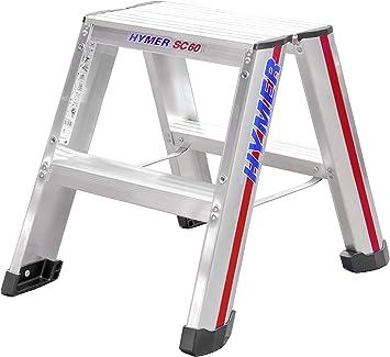 Hymer 602404 - Pequeña escalera de mano sc 60 2 x 2 stufen de aluminio: Amazon.es: Bricolaje y herramientas