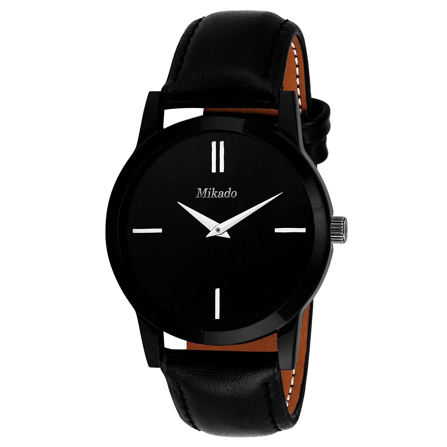 Mikado Analogue Black Dial Men's & Boy's Watch - Slim Ds1