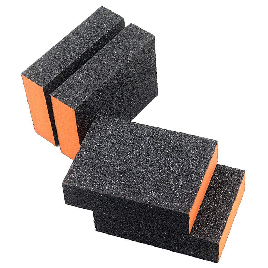 Fenteer 4 St/ück Schleifschwamm DIY Kontur Schleifpads sehr fein Schleifpapier 80 K/örnung Orange