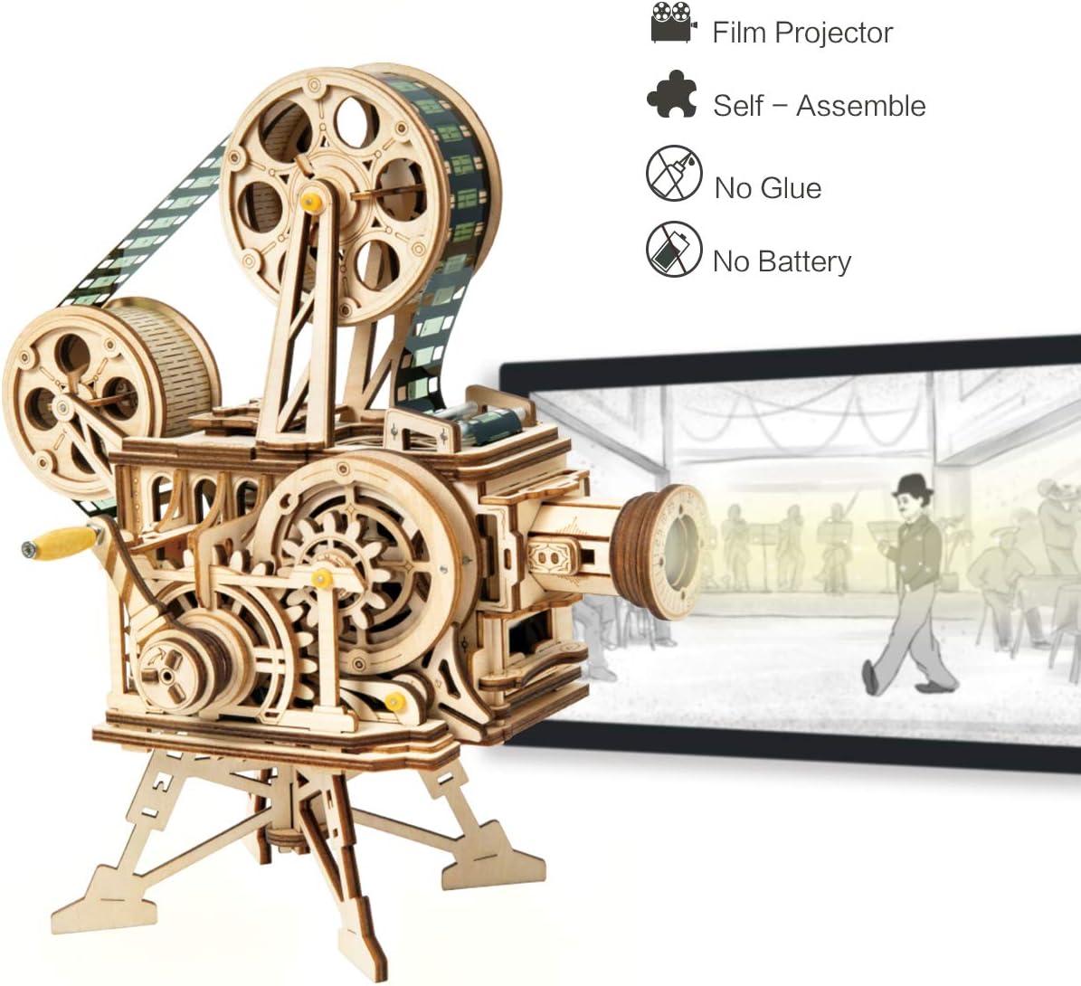Robotime Mechanical Vitascope Kit - Rompecabezas de Madera de Corte por láser de Modelos de construcción - Juegos de Madera para niños y Adolescentes
