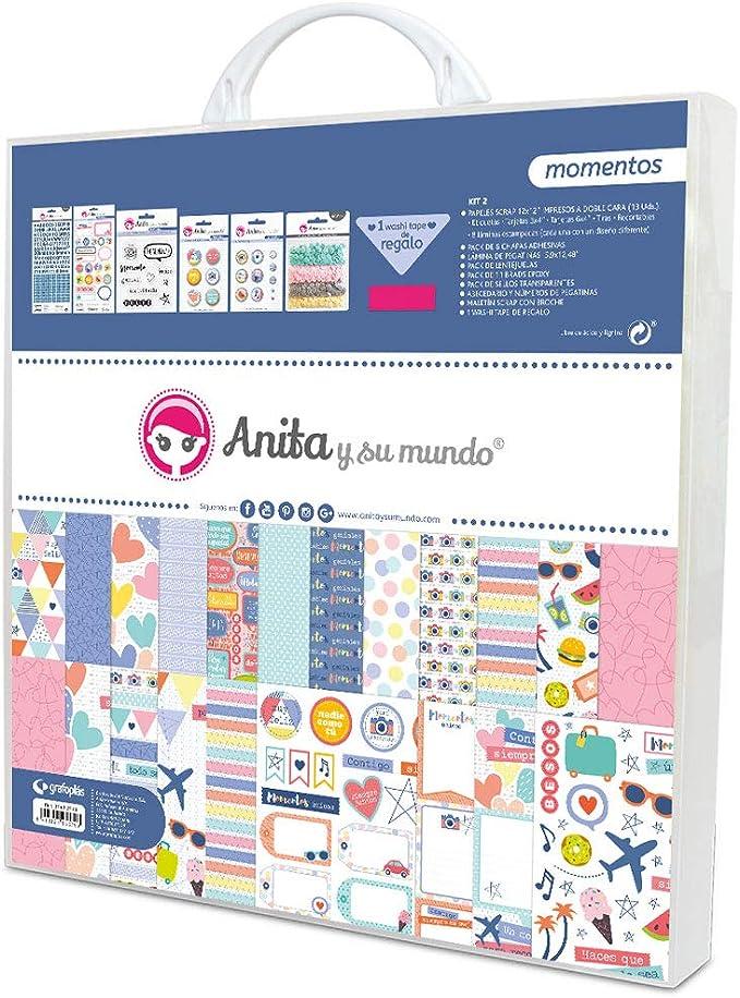 Anita /& Seine Welt Erstkommunion M/ädchen Scrapbooking-Set 5 Rosa 30,5 x 30,5 cm