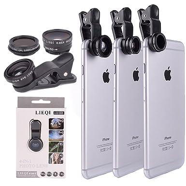 767b6e783667fb YOPO Universal 4 in 1 Clip on Fish Eye Lens + 2 in 1 Macro Lens ...