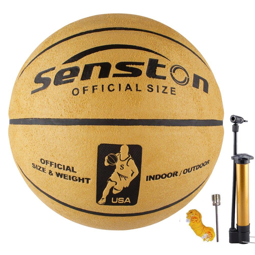 Senston Erwachsene Basketball Basketbälle Größe 7, Enthält 1 Netztasche /1 Inflator /1 Gasnadeln