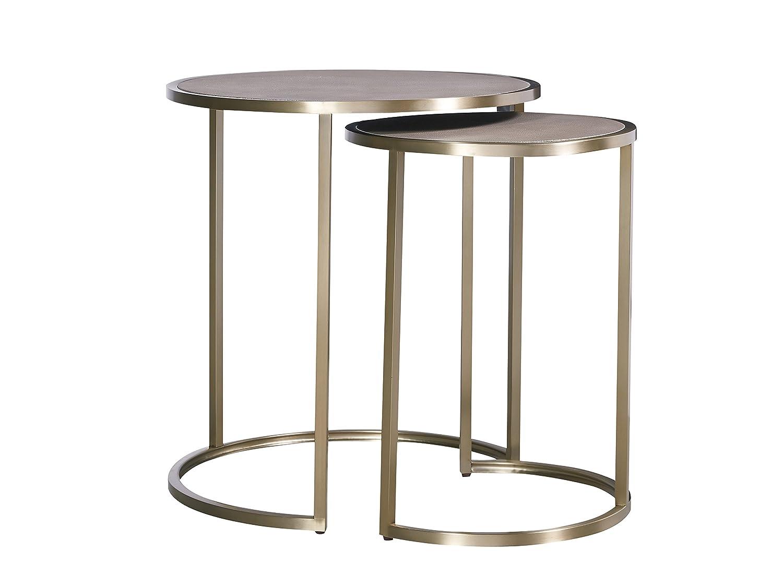 Amazon com universal furniture 647815 bennett bunching tables bronze tables