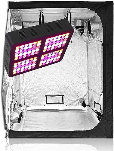 TopoGrow 600W LED Grow Light Kit 60 x60 x80 Grow Tent Kit for Hydroponic Plant Grow System LED600W 60 x60 x80