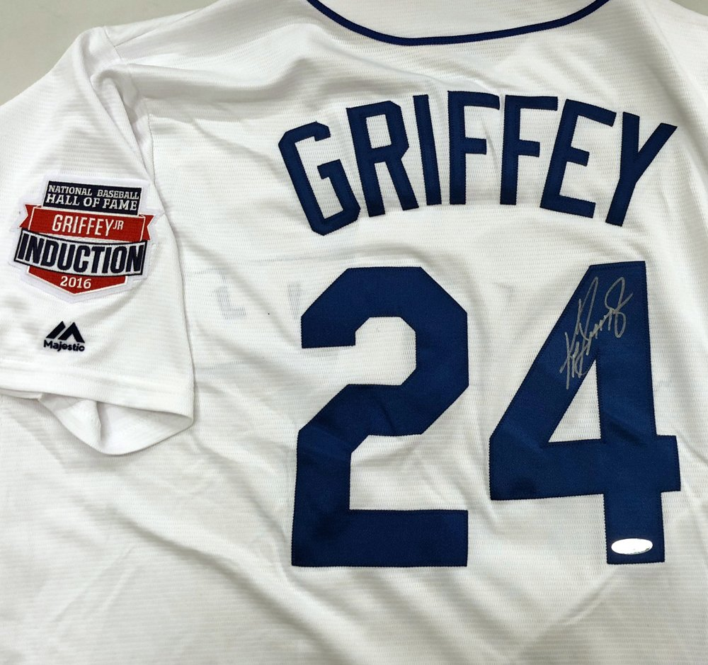 Seattle Mariners Ken Griffey Jr. Autographed White Majestic Throwback Jersey  HOF Patch Beckett BAS   Tristar Holo at Amazon s Sports Collectibles Store d22bbdfd25a1