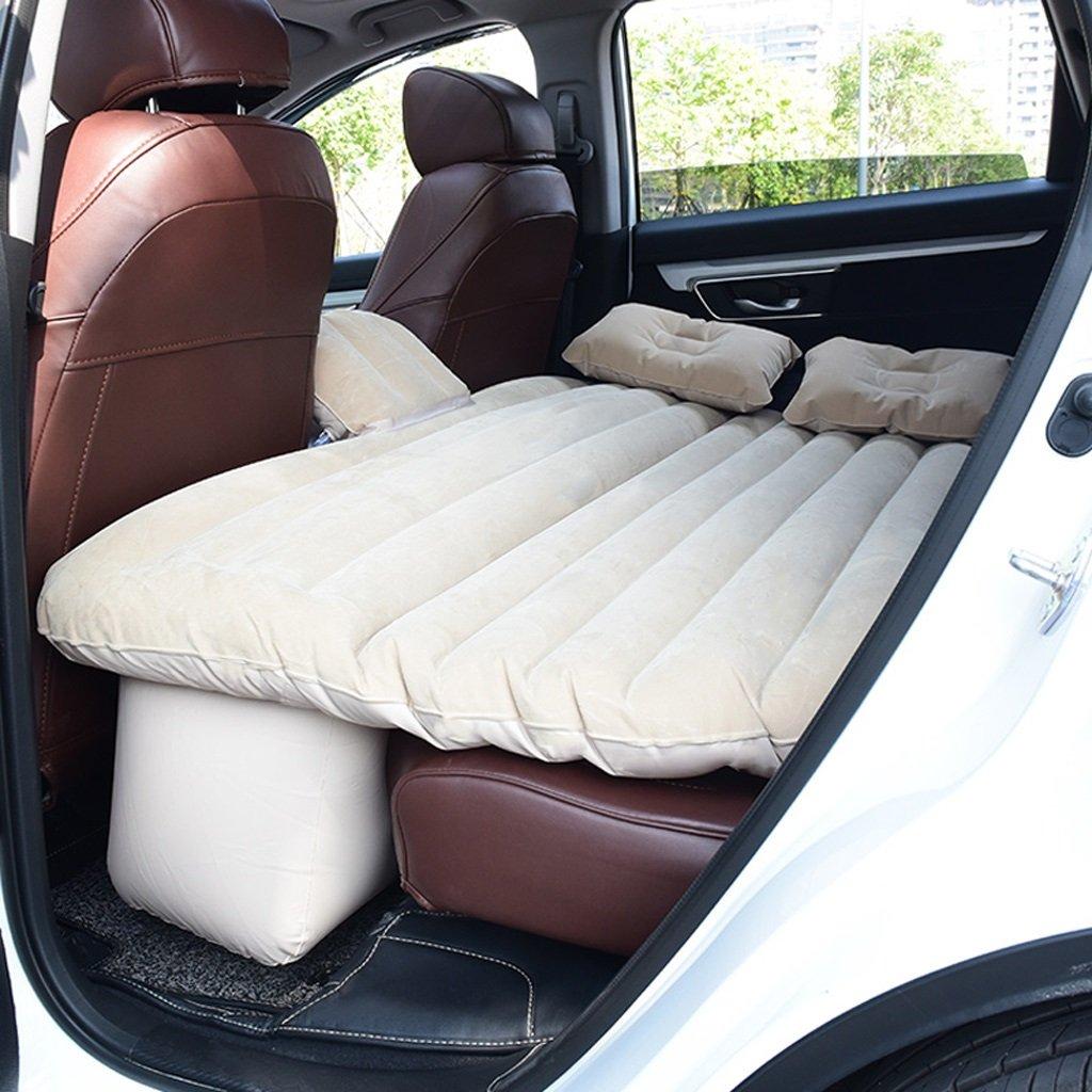 RMJXJJ-car air bed Auto-Reise-Bett-aufblasbares Bett-Auto-Hintersitz-Kissen SUV Spezielles Beige (Mehrfarbenwahlweise)