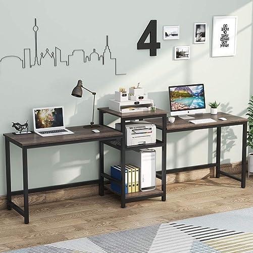 Tribesigns 96.9″ Double Computer Desk - a good cheap modern office desk