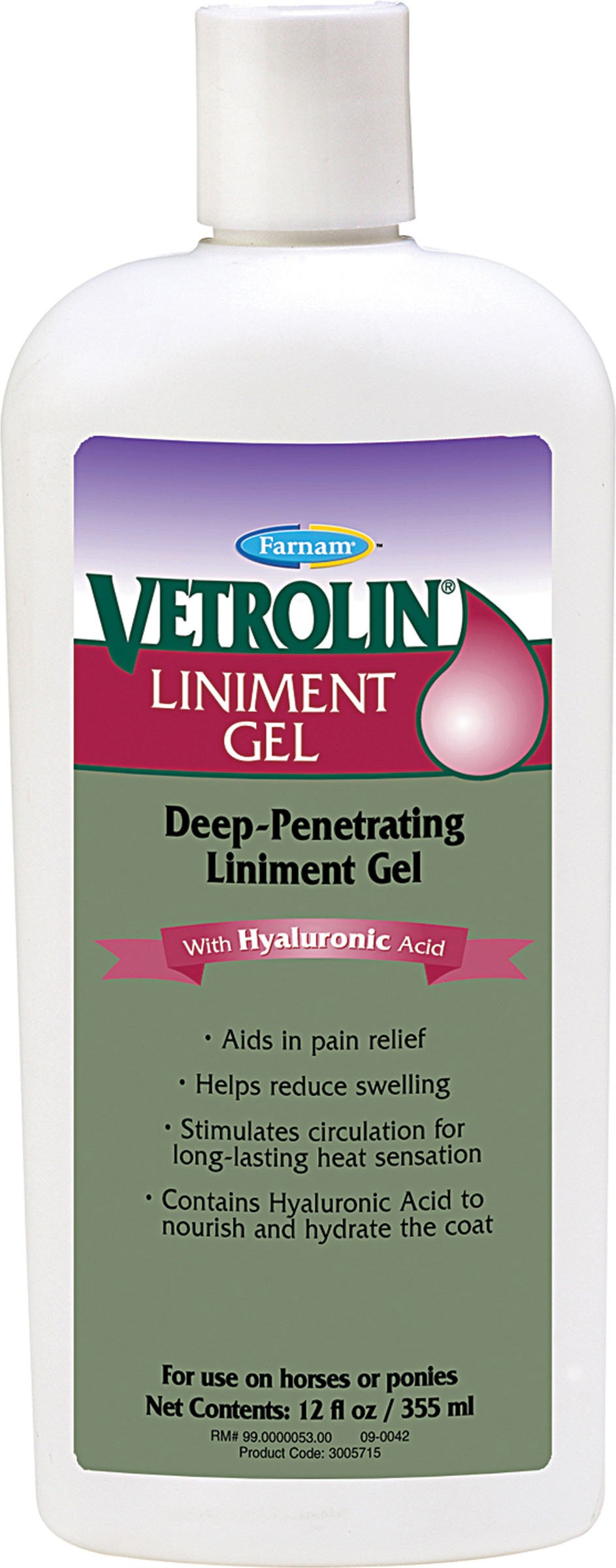 Vetrolin Liniment Gel - 12 oz by Vetrolin