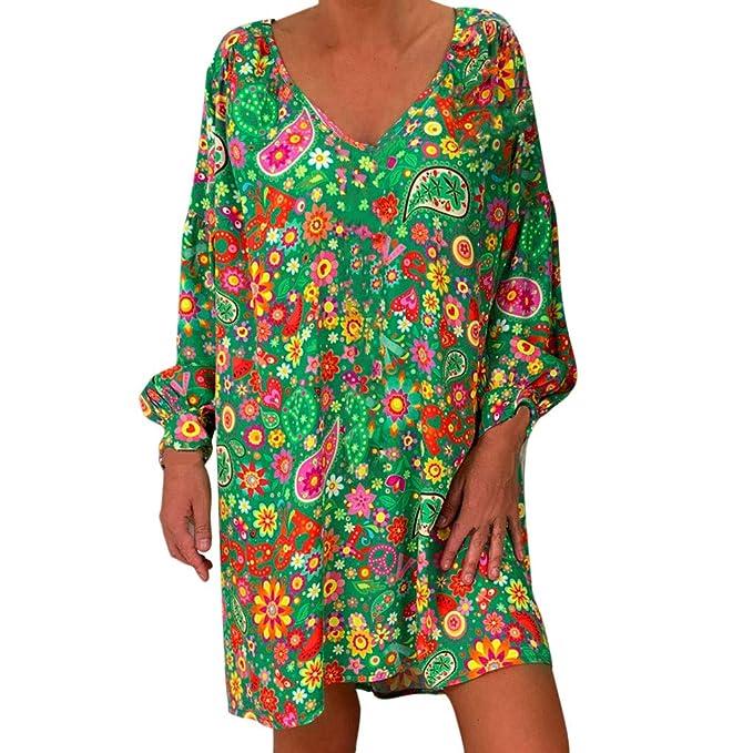 Da Donna Floreale Estate Donna Casual vacanza Top Shirt Dress Party Wear Camicetta