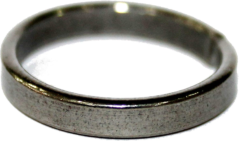 IndianStore4All Real Black Horse Shoe Iron Ring (Kale Ghode ki Naal Ki Ring) Adjustable Ring