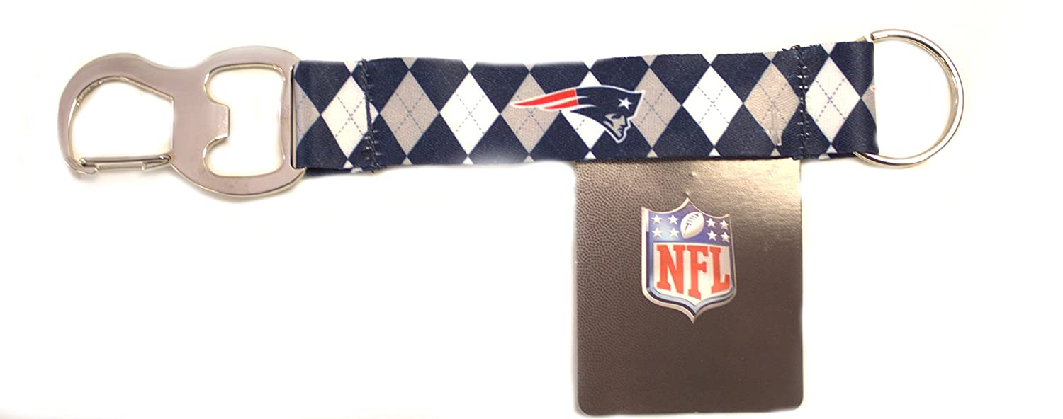 Strap Keychain with Bottle Opener Pro Specialties Group NFL New England Patriots Tailgate Buddy