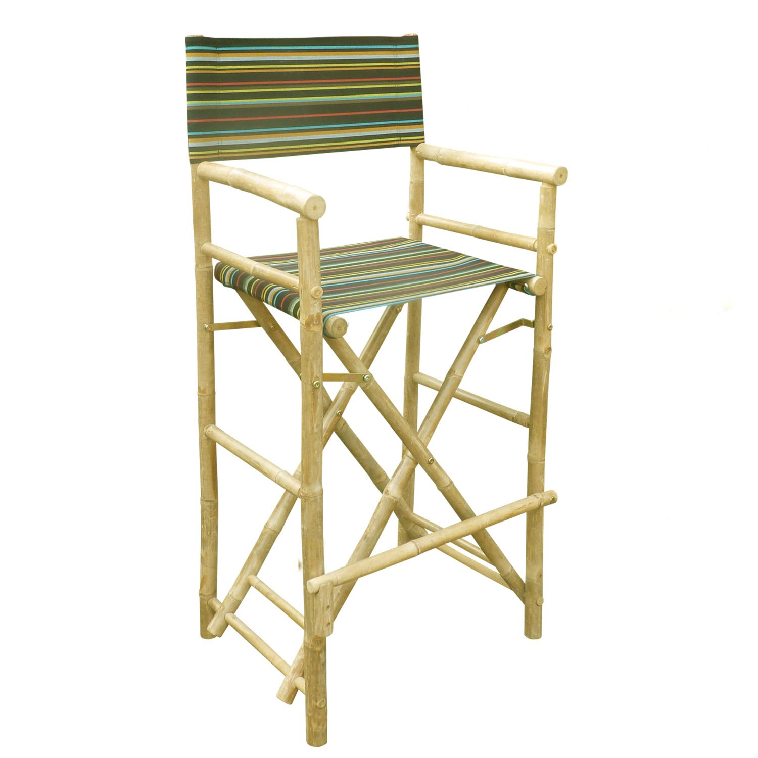Amazon Zew Hand Crafted Tall Foldable Bamboo Director s Chair