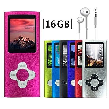 lecteur baladeur mp3 mp4 16 go radio fm ebook jeux: Amazon.es ...