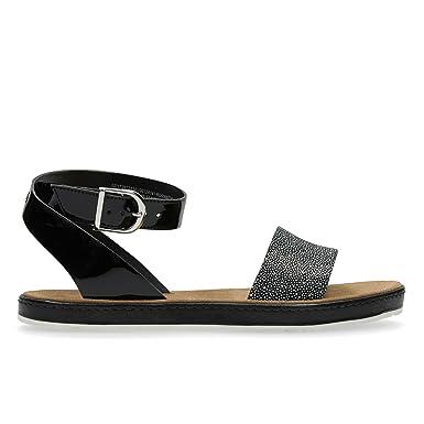7253597b1d63c Clarks Romantic Moon Leather Sandals In Black Combi Wide Fit Size 5   Amazon.co.uk  Shoes   Bags