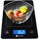 Kitchen Scale Multifunction Food Scale, 22lb/10kg,Tempered Glass Surface-Batteries Included