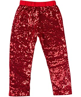747c4e32cc0d5 Freebily children Girls Shiny Sequins Leggings Pants Kids Boys ...