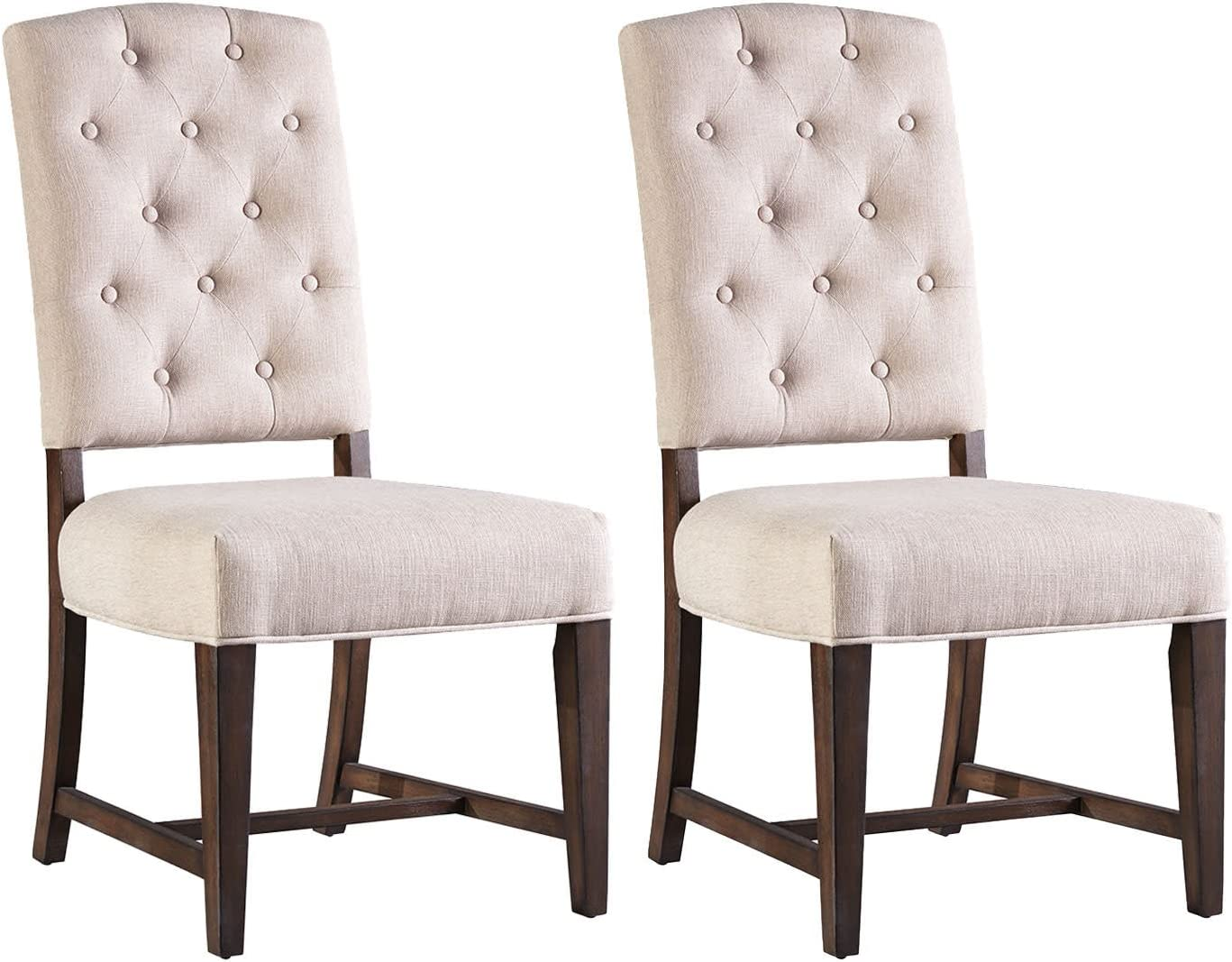 Standard Furniture Paisley Court 2-Pack Upholstered Side Chairs, Sand