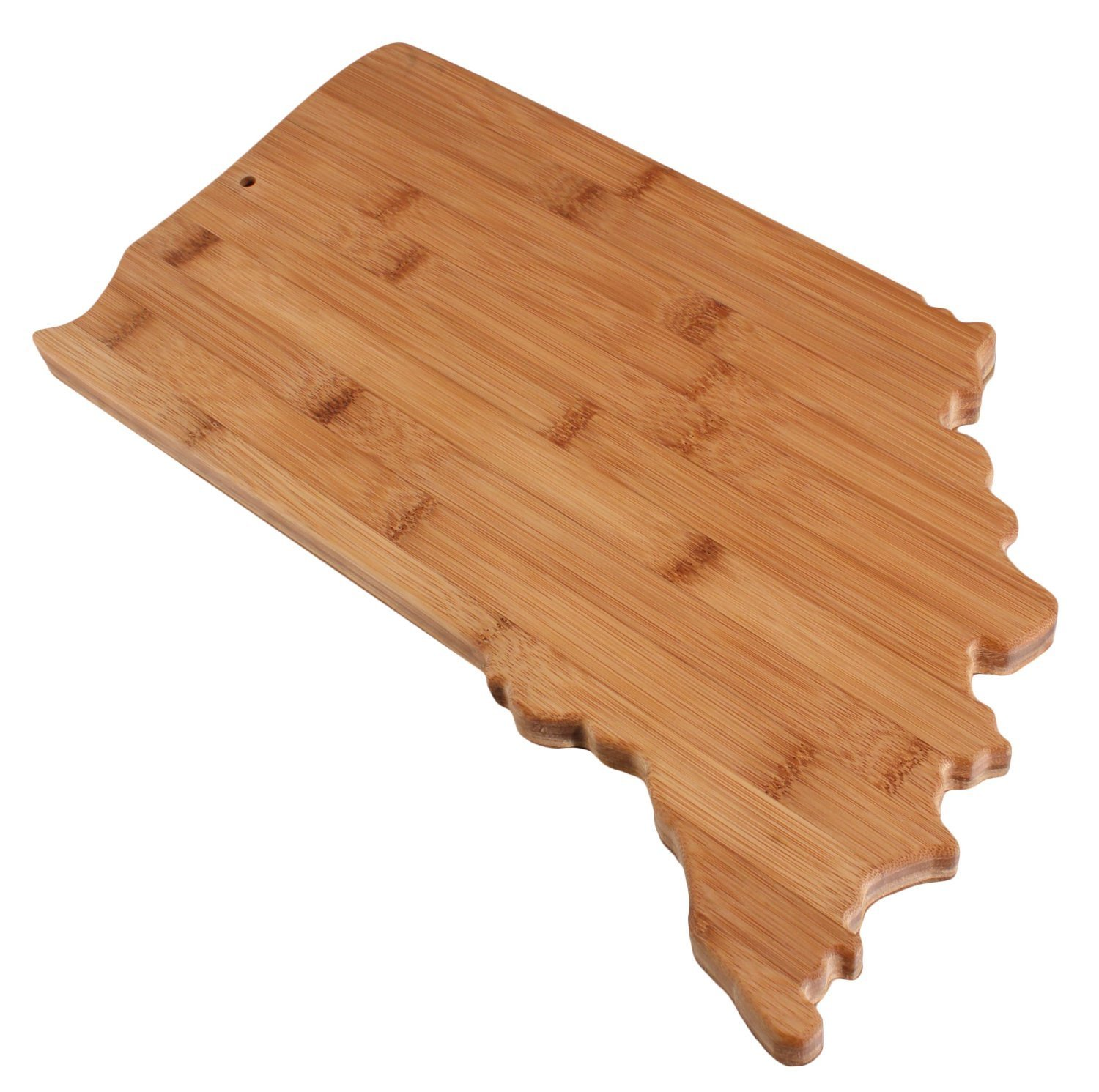 Real Bamboo Cutting and Serving Board, unique Indiana shaped board