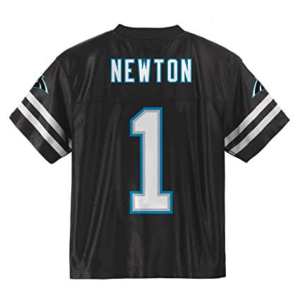 best service 495d6 b089f Outerstuff Cam Newton Carolina Panthers #1 Blackout Youth Home Player Jersey