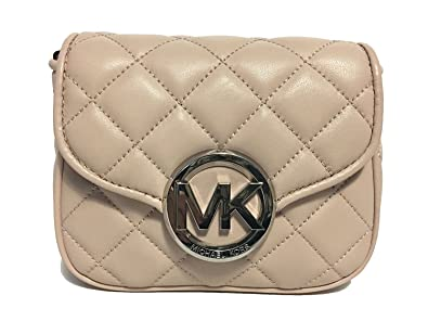 764cf2a74 MICHAEL Michael Kors Women's FULTON QUILT SMALL FLAP LEATHER CROSSBODY  PURSE (Ballet)