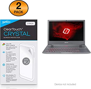 """Samsung Notebook Odyssey Z 15.6"""" (NP850XAC) Screen Protector, BoxWave [ClearTouch Crystal (2-Pack)] HD Film Skin - Shields from Scratches for Samsung Notebook Odyssey Z 15.6"""" (NP850XAC)"""