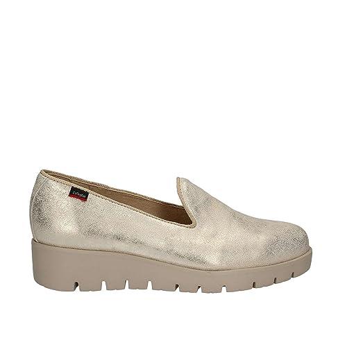 CALLAGHAN metal-trenz platino haman - Mocasines de Piel para mujer Dorado beige platino 37: Amazon.es: Zapatos y complementos