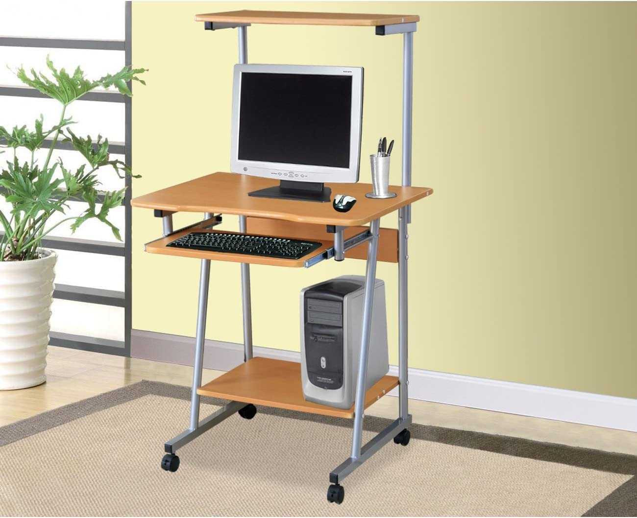 Home Source Industries Computer Cart, Cherry