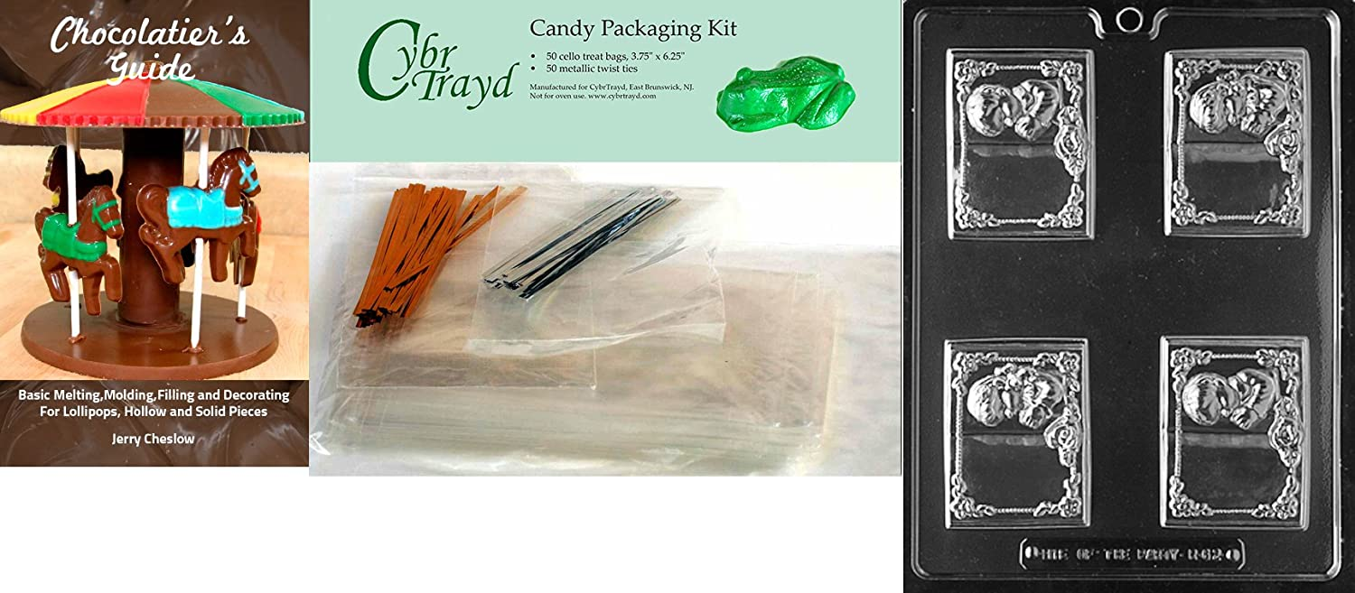 Cybrtrayd R062 Communion Boy /& Girl Book Chocolate Candy Mold with Exclusive Cybrtrayd Copyrighted Chocolate Molding Instructions plus Optional Candy Packaging Bundles