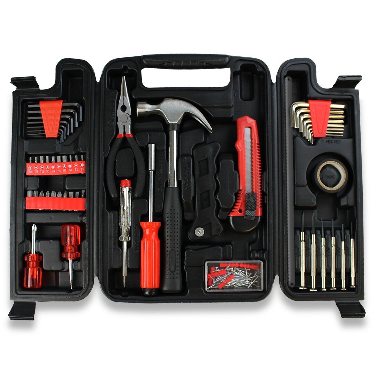 Home Repair Tool Kit by Tycana   Multi Tool Set, Homeowner Tool Kit, Tool Set   For All Home Repairs   142 Piece Kit