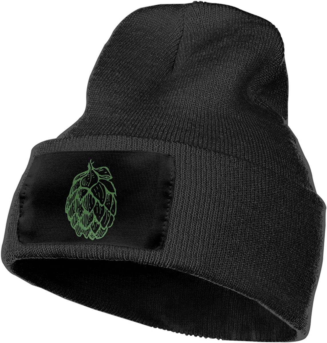 COLLJL-8 Men//Women Beer Hops Outdoor Warm Knit Beanies Hat Soft Winter Knit Caps