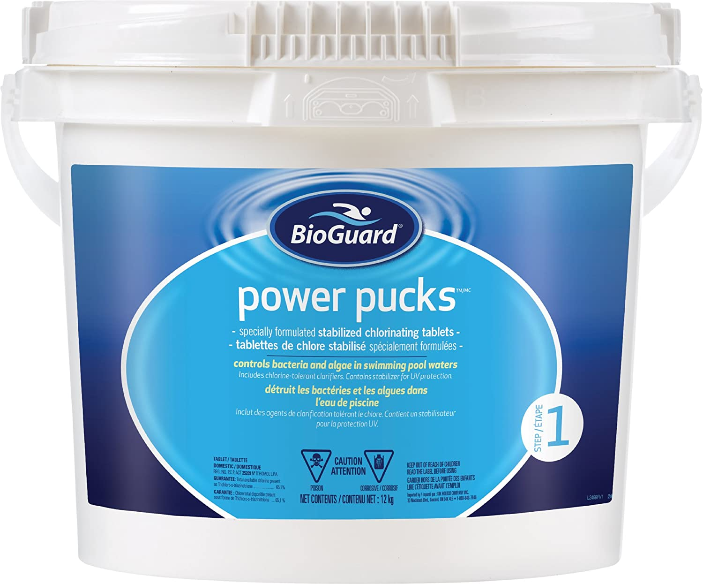 BioGuard Power Pucks (12 kg) Stabilized Chlorine Tablets (SKU 2469)