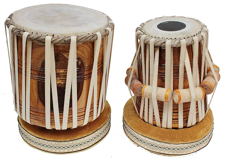 超熱 Makan Musical White Strap Sheesham Drum Wood Dayan & Bayan Tabla Instrument Drum Set Percussion Musical Instrument with Carry Bag & Cushion B07QGZBWNW, エブリ:d88bde1b --- a0267596.xsph.ru
