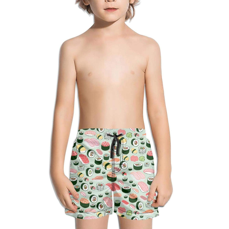 Ouxioaz Boys' Swim Trunk I Love Sushi Food Beach Board Shorts