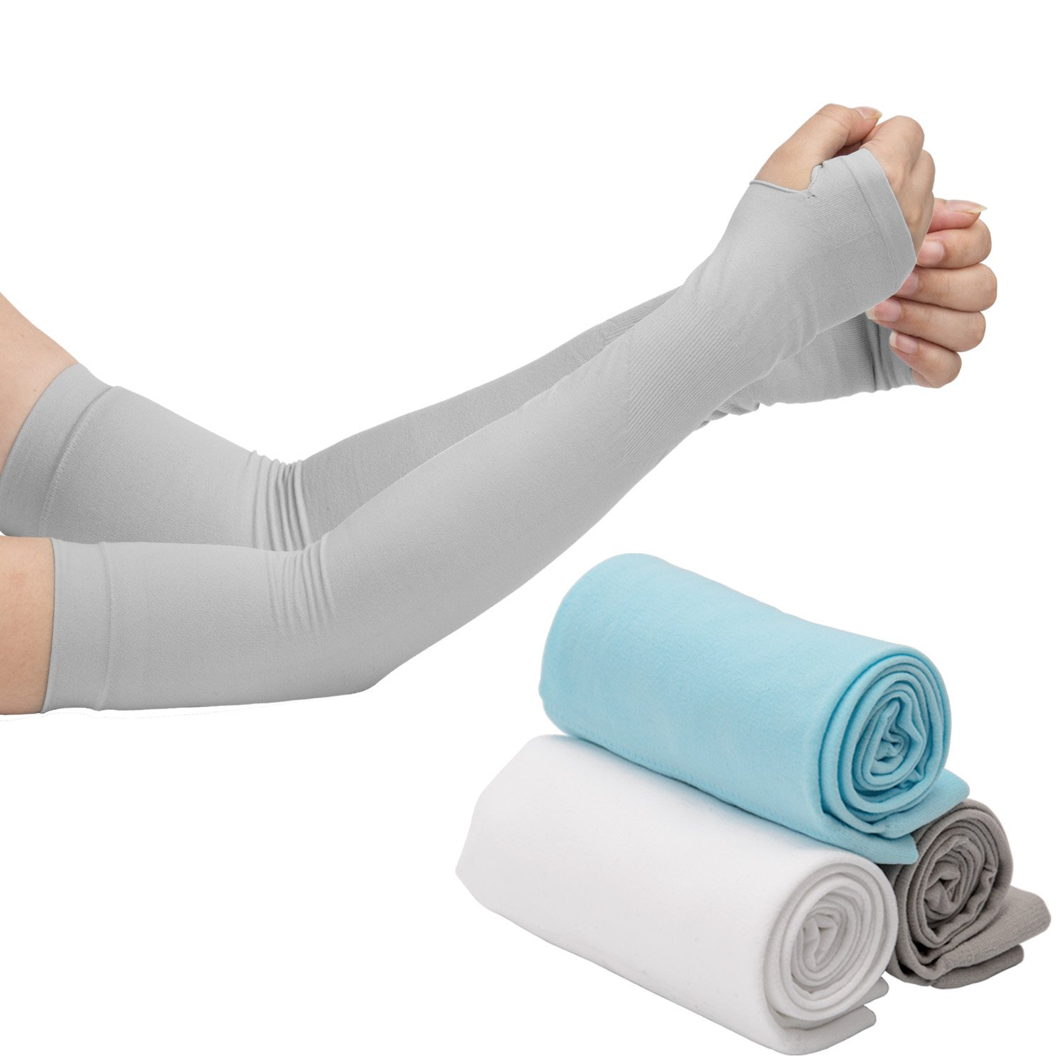 LUTER Arm Sleeves, Arm Cooling Sleeve Covers With UV Sun Protection, Anti Mosquito Bites Special Material and Compression Design for Cycling/Golf/Running/Basketbal/Driving/Climbing For Men and Women by LUTER (Image #1)