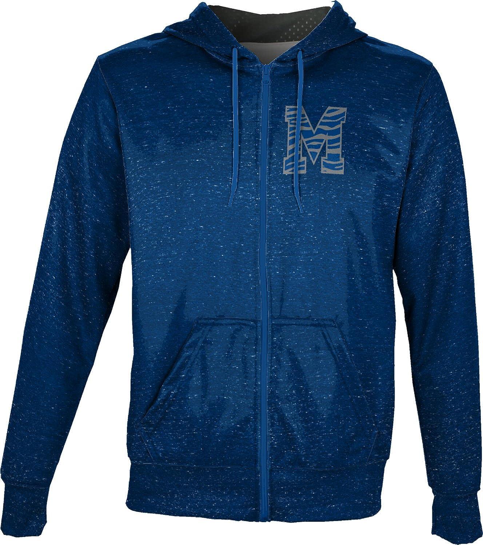 Heathered ProSphere University of Memphis Mens Full Zip Hoodie