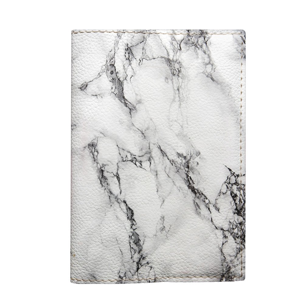 ca2c7290e229 Amazon.com: New White Marble passport cover ID leather holder with ...