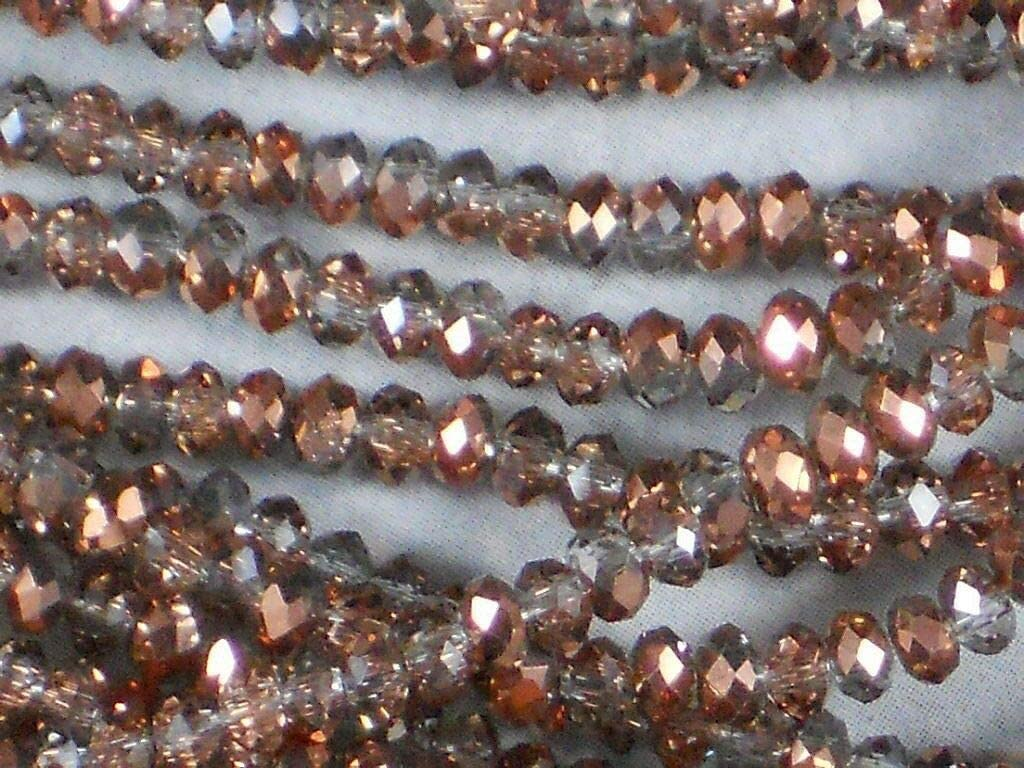 80 Faceted 2mm Rondelle Opaque Crystal Glass Loose Beads Jewellery making