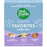 nutpods Favorites Collection, (3-Pack), Toasted Marshmallow, French Vanilla and Cinnamon Swirl, Unsweetened Dairy-Free Creame