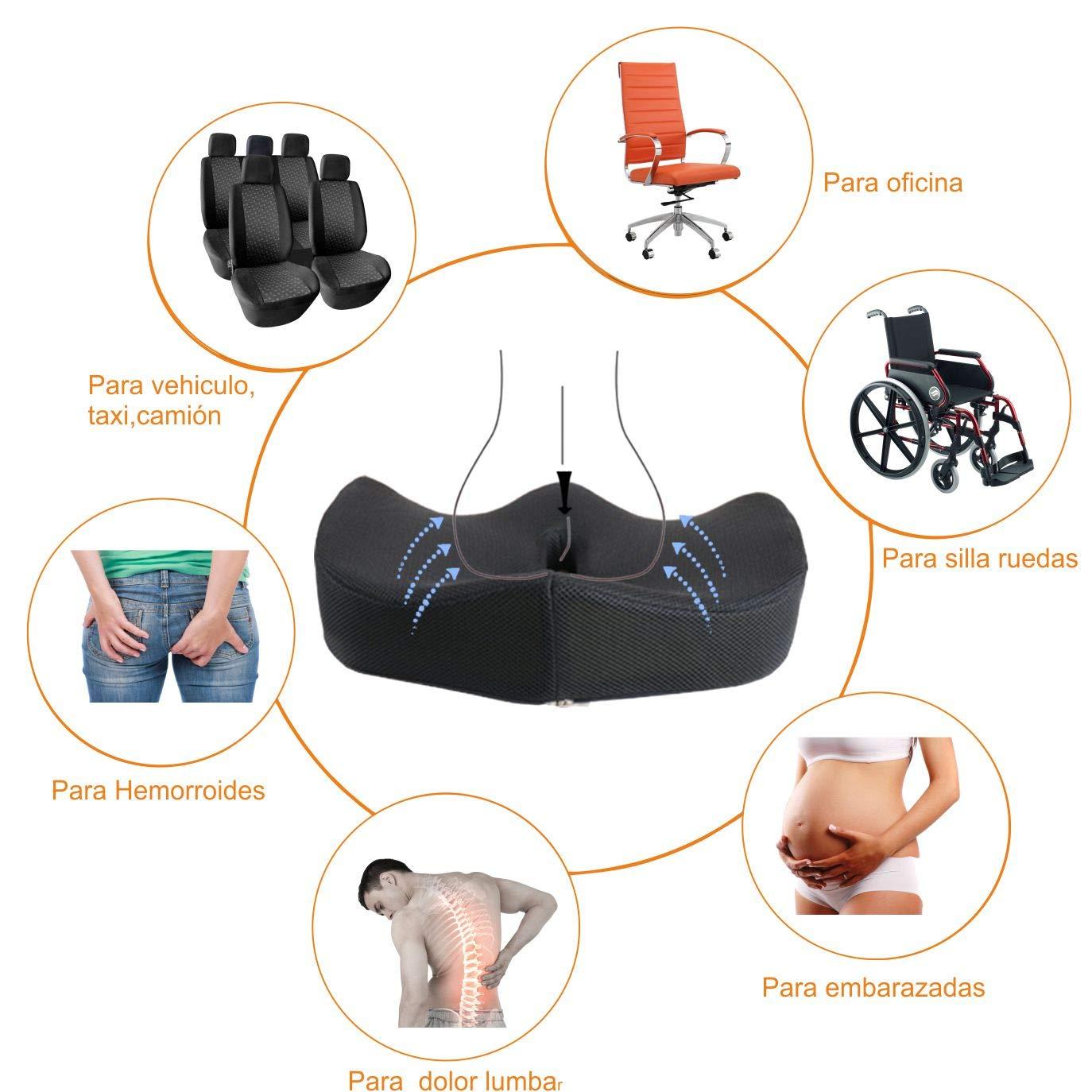 AIMO COJÍN SC001 ortopedico anatomico , aliva presiones coxis, prostata, hernias: Amazon.es: Hogar
