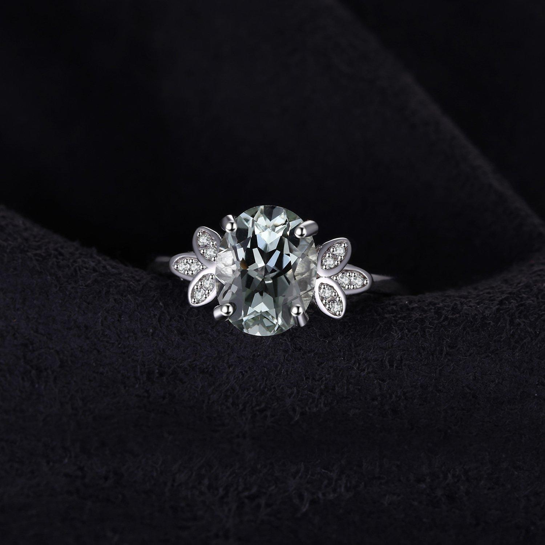 JewelryPalace Bague Pierre Multicolor Naturel Synth/èse Pour Femme Fashion en Argent Sterling 925