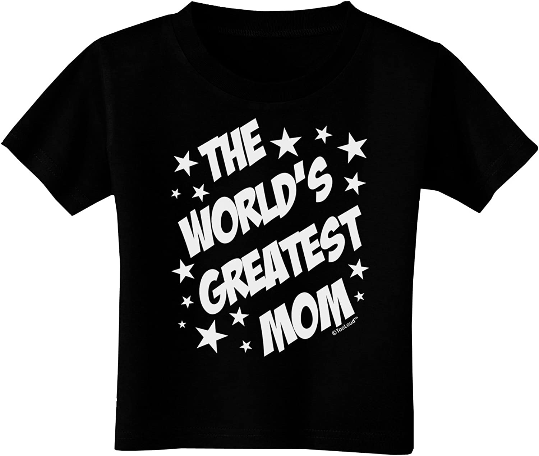 Superhero Style Toddler T-Shirt Dark TooLoud The Worlds Greatest Mom