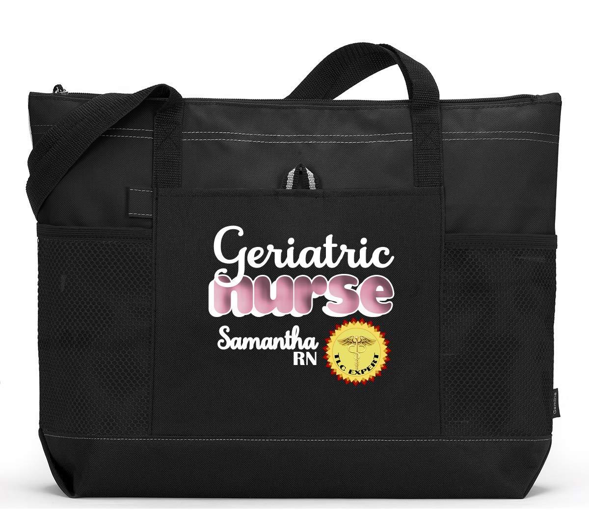 Geriatric Nurse, RN, LPN Personalized Zippered Tote Bag