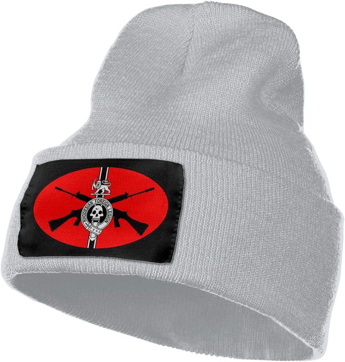 Rhodesian Foreign Legion Men/&Women Warm Winter Knit Plain Beanie Hat Skull Cap Acrylic Knit Cuff Hat