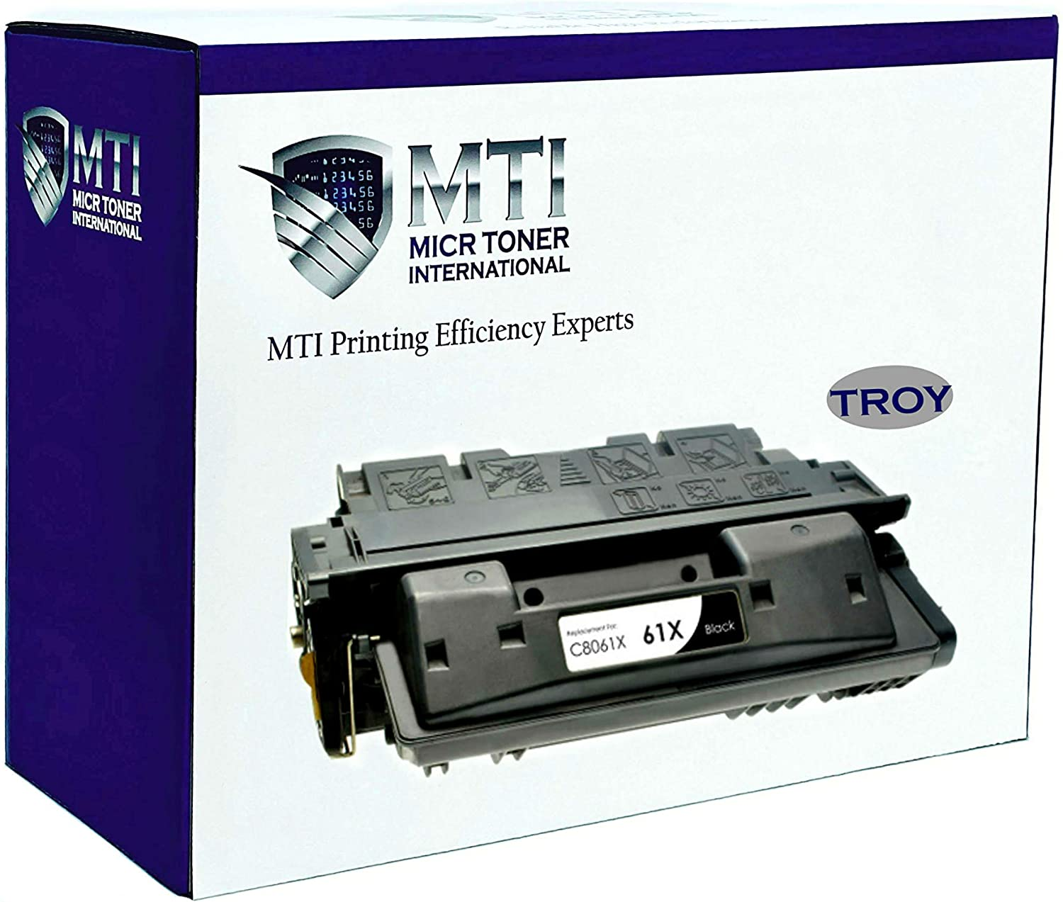 MICR Toner International Compatible Magnetic Ink Cartridge Replacement for Troy 02-81078-001 HP C8061X 61X LaserJet 4100