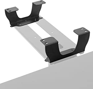 VIVO Steel Dual Spacer Brackets for Under Desk Keyboard and Mouse Slider Tray, Height Track Spacer Mount Fitting Desk Frames up to 3.2 inches (MOUNT-SPACER01)