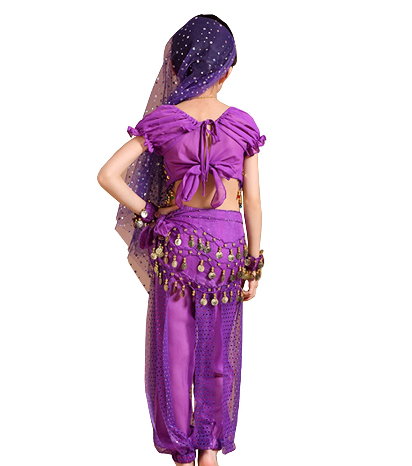 Astage Children Indian Belly Dance Girl Costume Halloween Performance Sets
