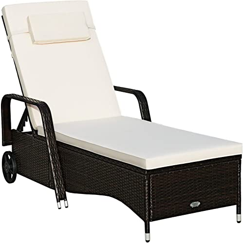 Happygrill Patio Reclining Chaise Lounge Chair